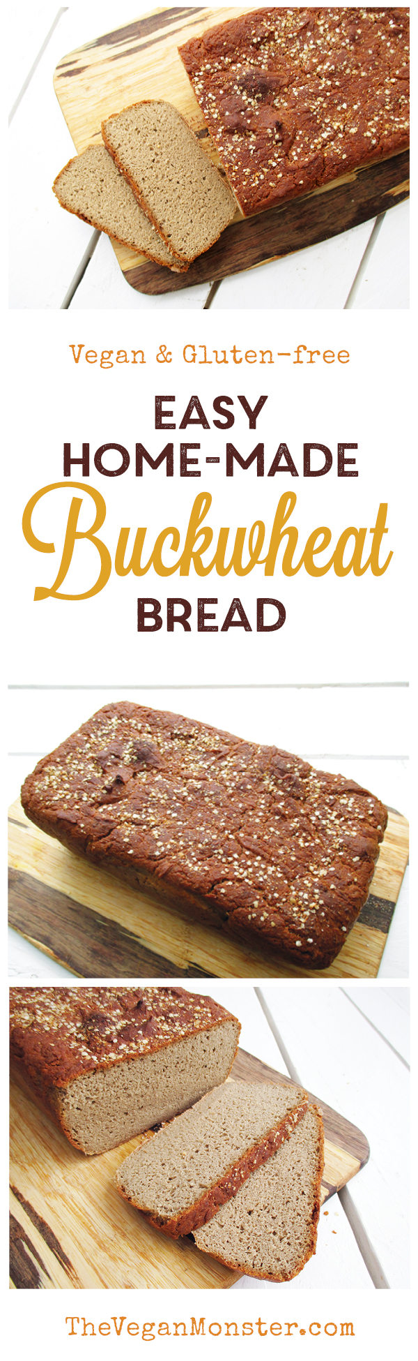 Easy Vegan Gluten-free Buckwheat Bread Recipe