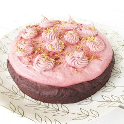 Pink Chai Chocolate Cake (Vegan, Gluten-free, No Dates)