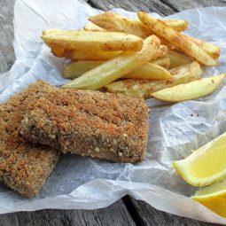 Tof(ish) & Chips (Vegan, Gluten-free, Oil-free)