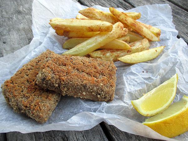 Vegan Gluten-free Oil-free Tofish And Chips Recipe - Vegane Glutenfreie Oelfreie Tofisch Und Pommes Rezept