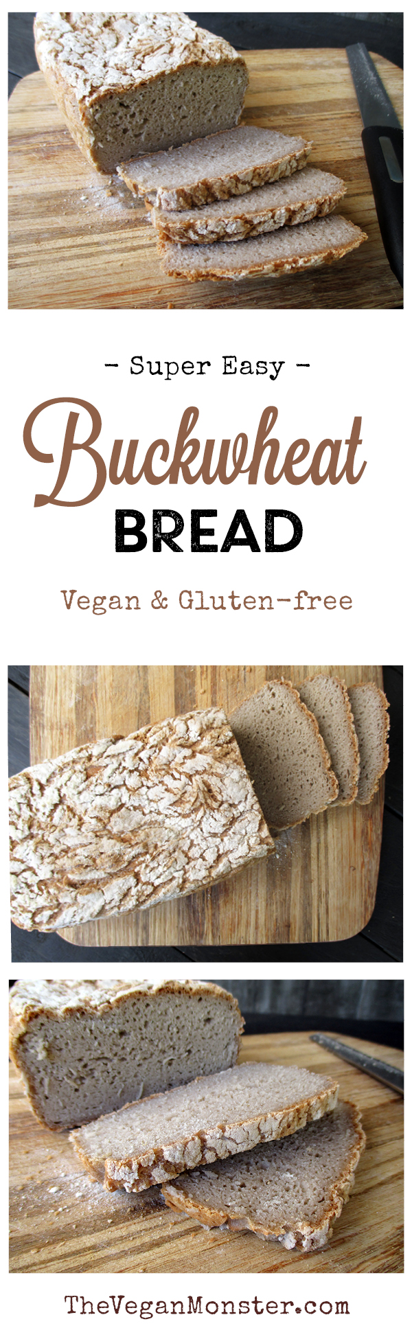 Vegan Gluten-free Super Easy Buckwheat Bread Recipe