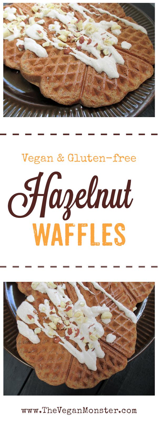 Vegan Gluten-free Hazelnut Waffles Recipe