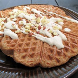 Hazelnut Waffles (Vegan, Gluten-free, Without Refined Sugar, Oil-free)
