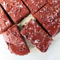 Schoko Kokos Kuchen Schnitten (Vegan, Glutenfrei, Ohne Kristallzucker, Ohne Datteln, Ohne Nüsse)