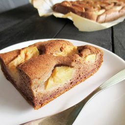 Apple Cinnamon Cake with Nut-Milk Pulp (Vegan, Gluten-free, No Refined Sugar)