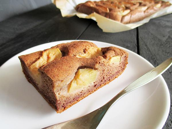 Vegan Glutenfree Nut Milk Pulp Apple Cinnnamon Cake Slice Recipe - Veganer Glutenfreier Nuss Milch Mehl Apfel Zimt Kuchen Rezept