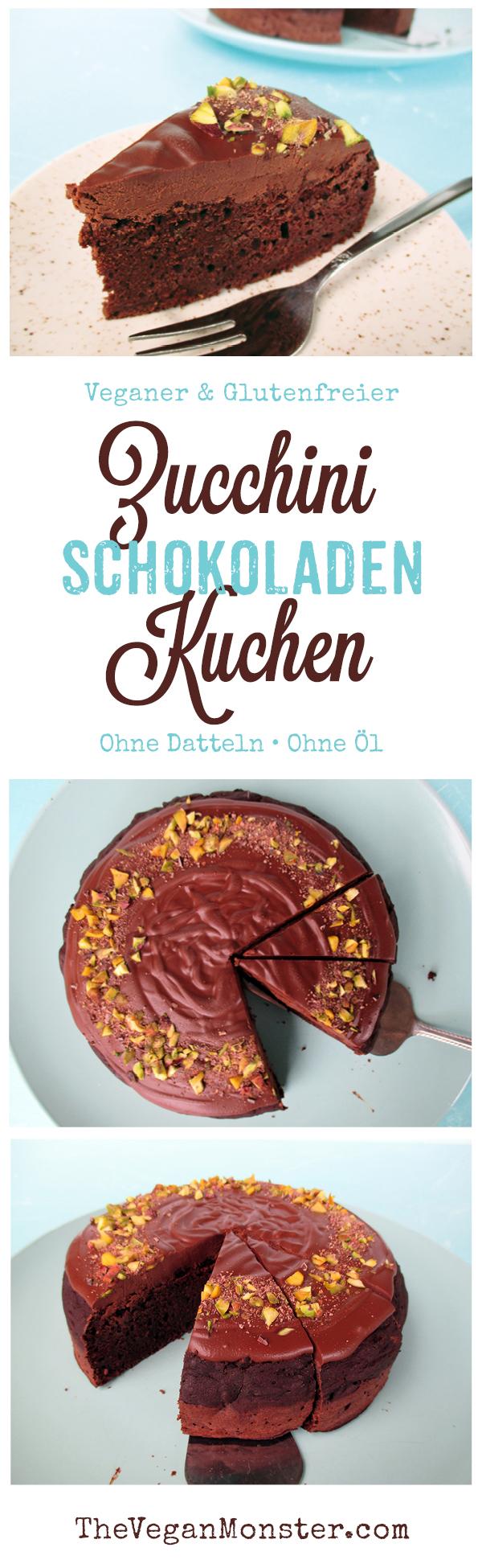 Veganer Glutenfreier Zucchini Schokoladen Kuchen Rezept Ohne Oel