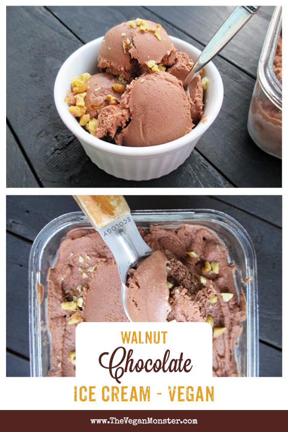 Vegan Gluten-free Refined Sugar Free Dairy-free Walnut Chocolate Ice Cream Recipe