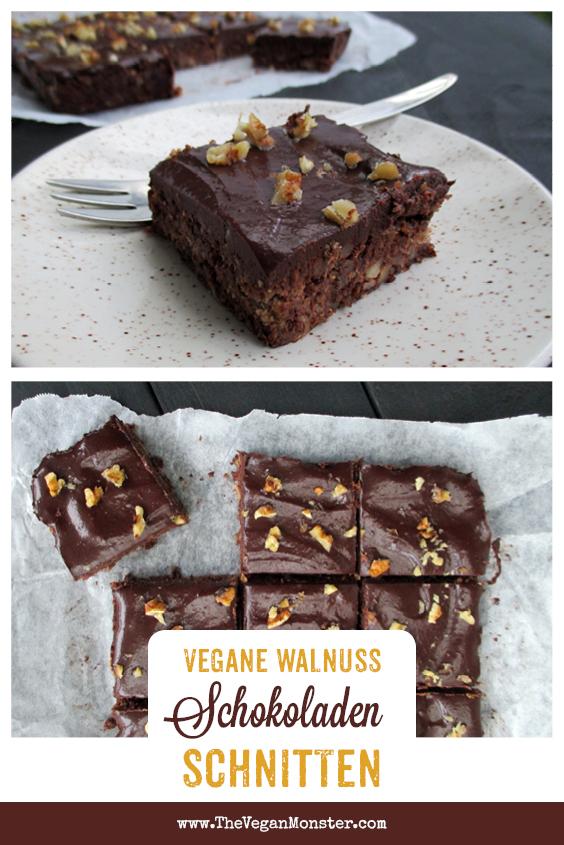 Einfache Vegane Glutenfreie Nix Backen Walnuss Schoko Schnitten Ohne Kristallzucker Rezept