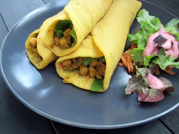 Vegan Gluten-free Oil-free Soy-free Pumpkin Wraps Recipe - Vegane Glutenfreie Kuerbis Wraps Ohne Soja Ohne Oel Rezept