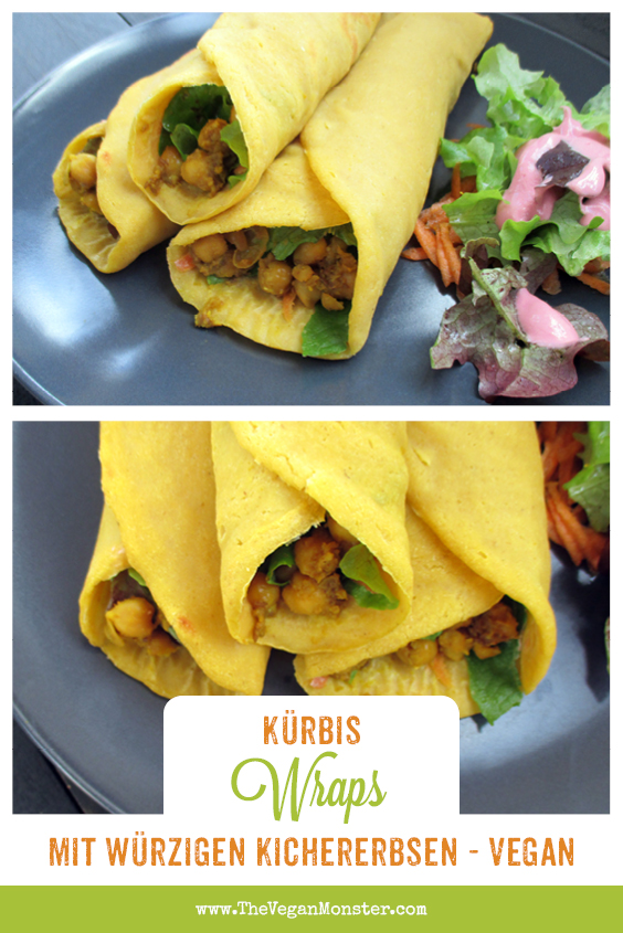 Vegan Gluten-free Oil-free Soy-free Pumpkin Wraps Recipe