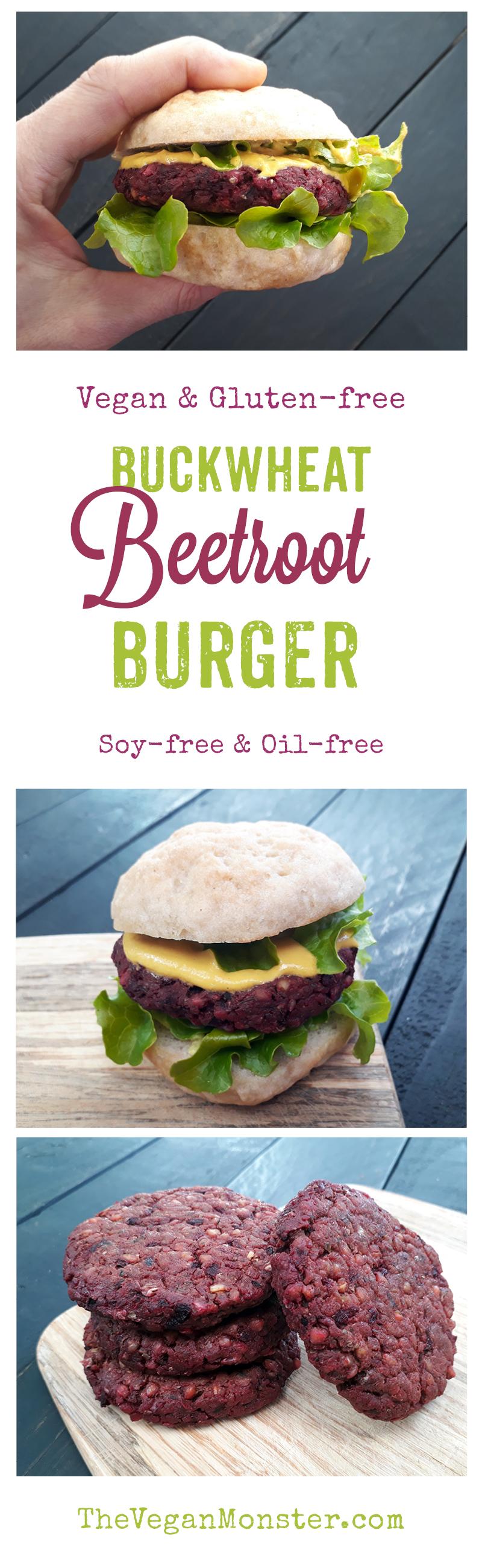 Vegan Gluten-free Beetroot Burger Oil-free Recipe