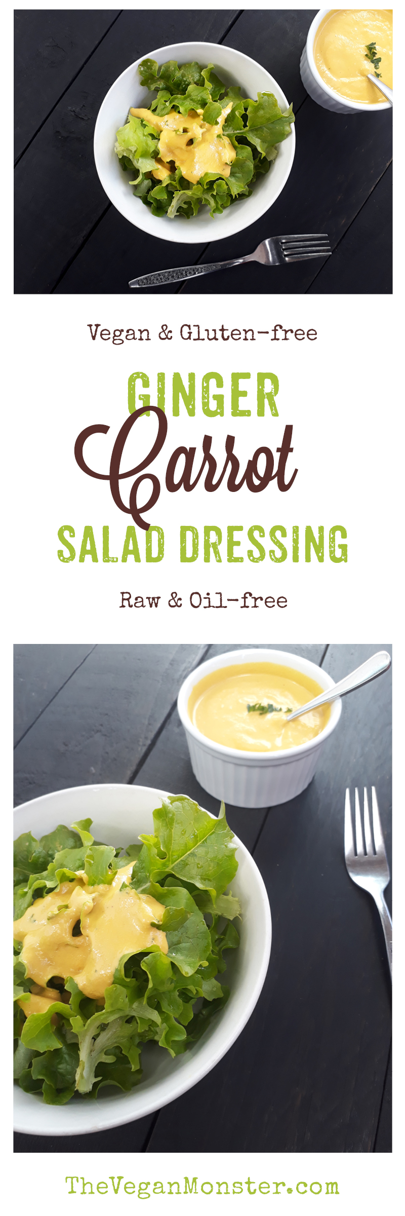 Vegan Gluten-free Raw Ginger Carrot Salad Dressing Without Oil Recipe