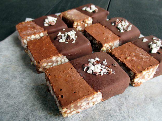 Buckwheat Chocolate Ice Cream Bars Vegan Gluten Free Nut