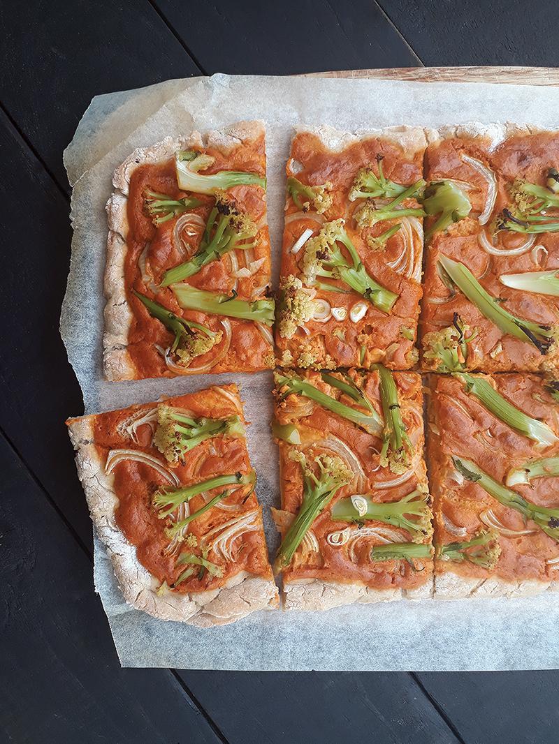 Vegan Gluten-free Pizza With Smoky Cashew Capsicum Sauce Without Tomato Recipe