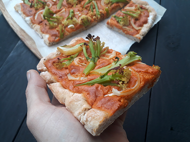 Vegan Gluten-free Pizza With Smoky Cashew Capsicum Sauce Without Tomato Recipe