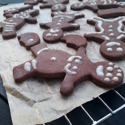 Ginger Bread Figures (Vegan, Gluten-free, Nut-free, Fruit-Sweetened)