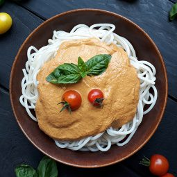 Gemüse Pasta Sauce (Vegan, Glutenfrei, Ohne Öl)