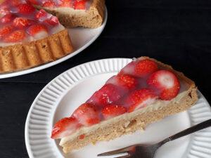 Klassischer Erdbeerkuchen / Obstkuchen (Vegan, Glutenfrei, Ohne Kristallzucker, Ohne Öl)