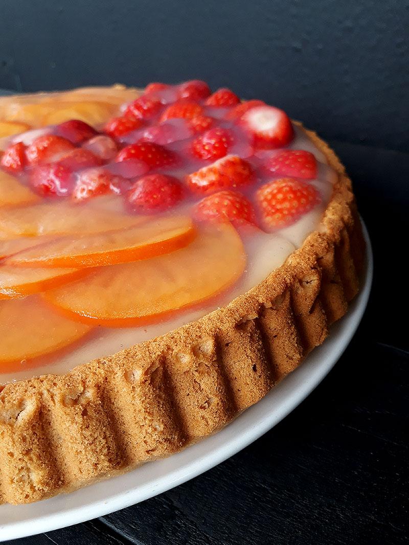 Vegan Glutenfrei Klassicher Biskuit Erdbeer Kuchen Ohne Öl
