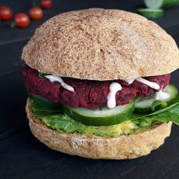 Beetroot Burger (Vegan, Gluten-free, Oil-free)
