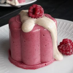 Raspberry Panna Cotta (Vegan, Gluten-free, Fruit-sweetened)