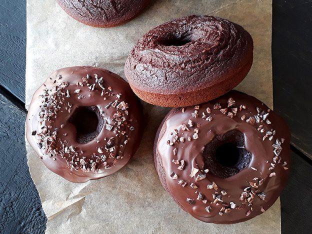 Chocolate Doughnuts Vegan Glutenfree - Schoko Donuts Glutenfrei